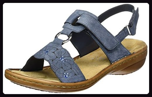 Rieker Damen Sandalen Blau: Schuhe & Handtaschen