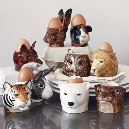 Ceramic Animal Egg Cups | Egg cups, Ceramic animals and Egg