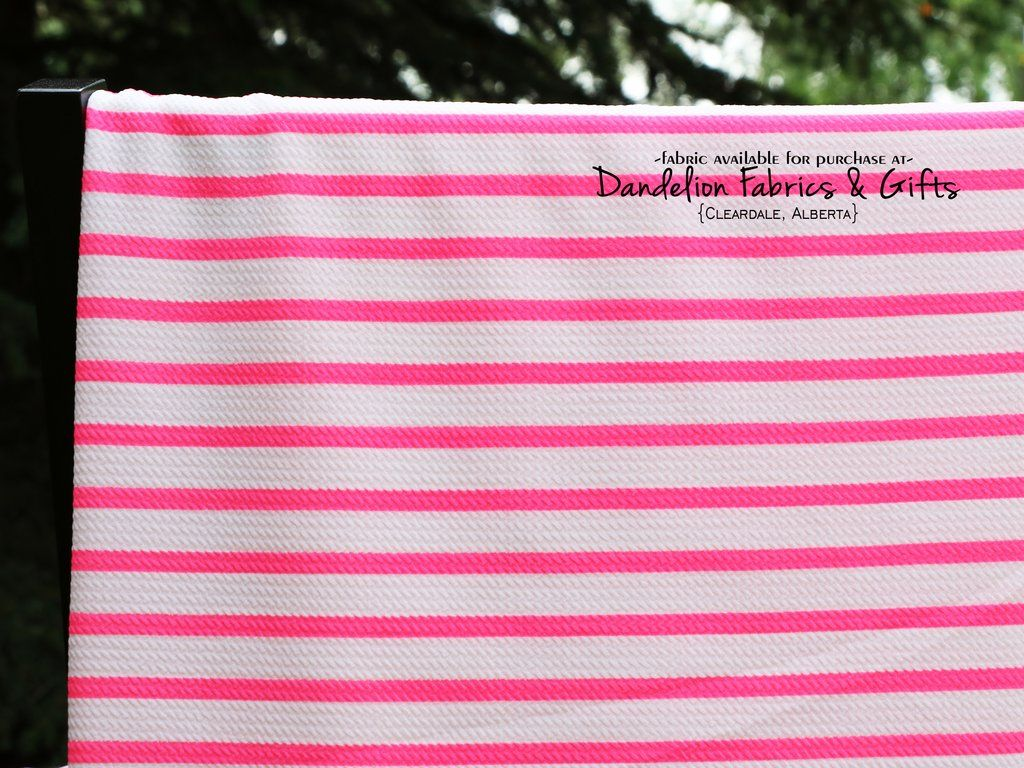 0352be1a12 Neon Pink Stripe Bullet Liverpool Knit Fabric