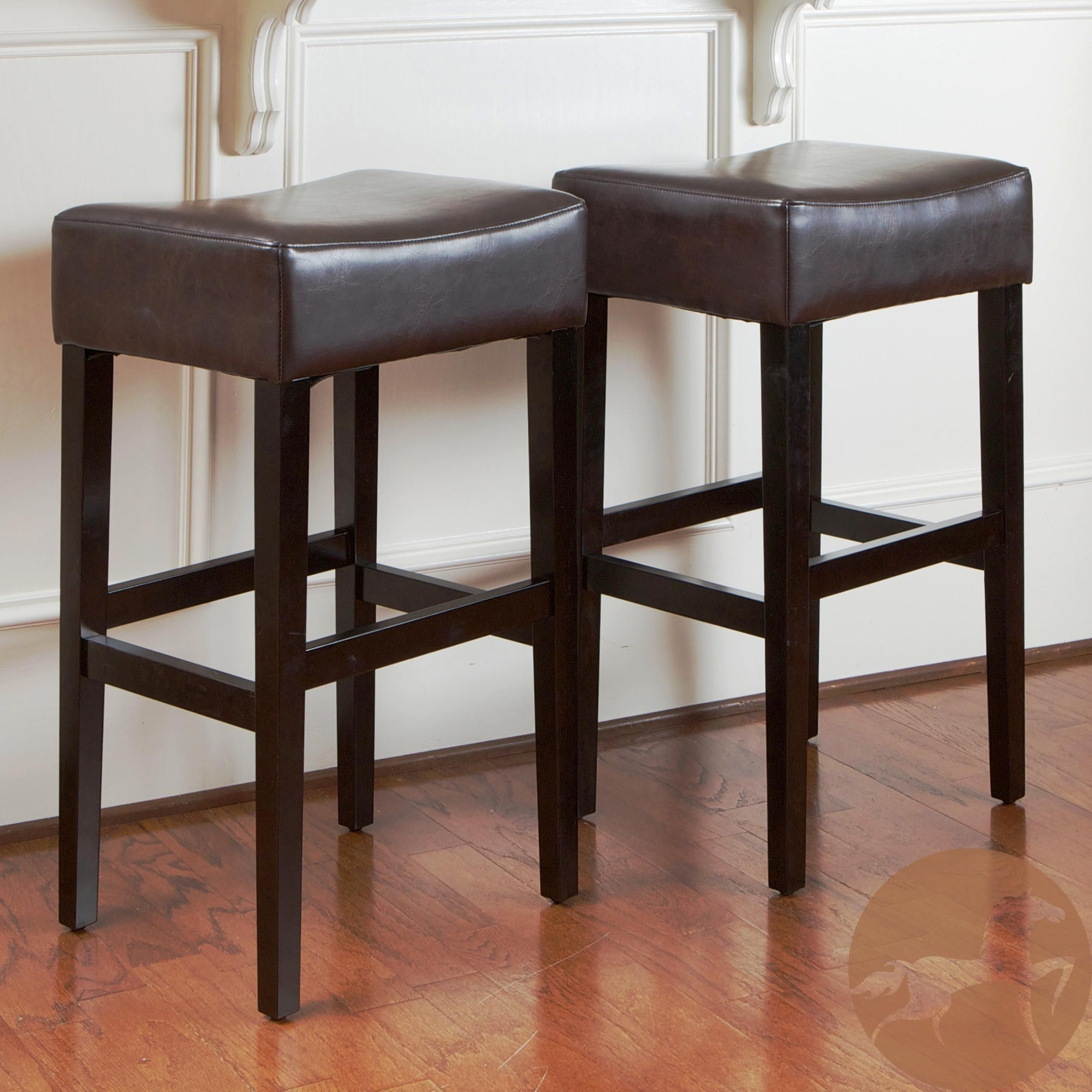 Peachy Leather Bar Stools With Nailhead Trim Summerland Cjindustries Chair Design For Home Cjindustriesco