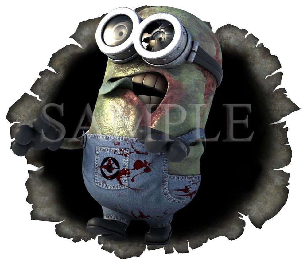 Bullet hole zombie minion vinyl sticker window windscreen bumper u k post only in vehicle parts
