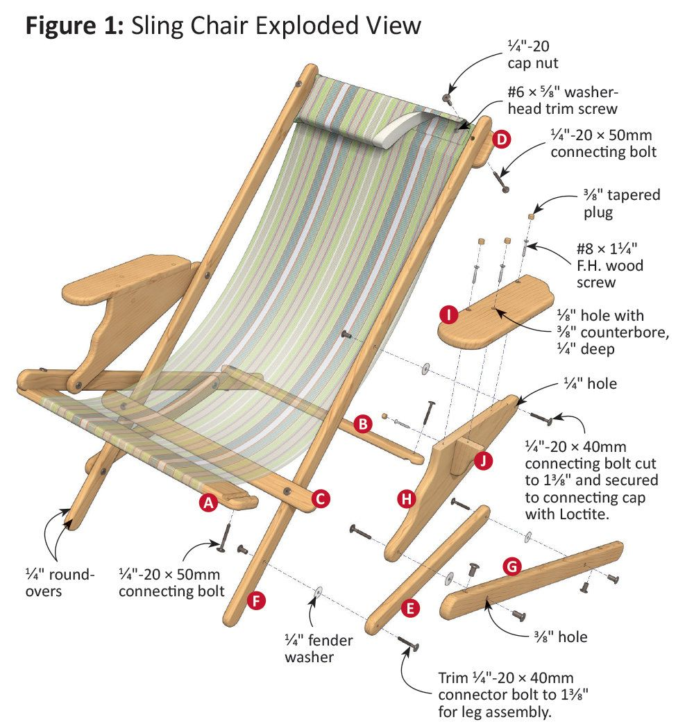 Fast And Easy Sling Chair With Images Sling Chair Chair Wood