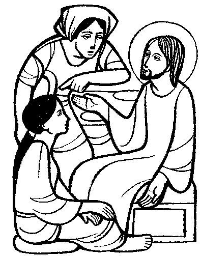 Mary And Martha Coloring Page Mary And Martha Bible Coloring