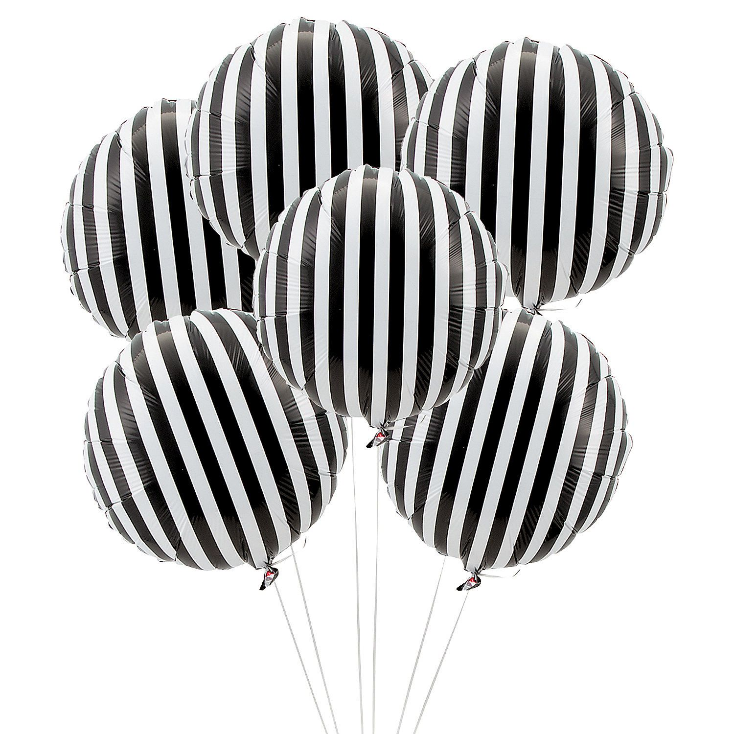 fabulous black and white striped balloons how cool would these be for your wedding
