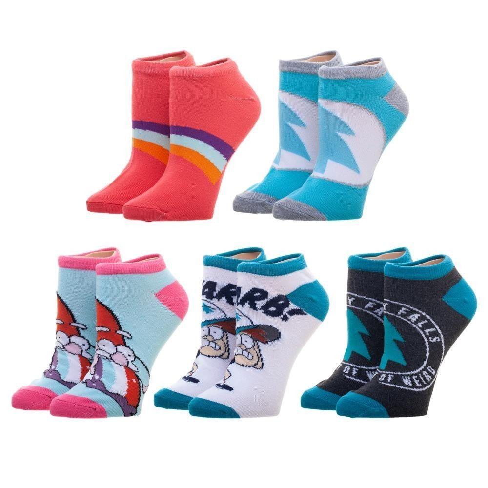 d5c1a36ca241 5 Pairs Gravity Falls Ankle Socks Bioworld Womens Ladies Size 9-11 Pack  Disney #Bioworld #AnkleHigh