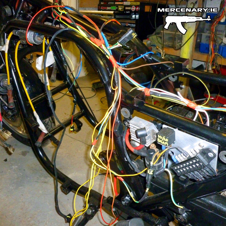 Mercenary: GPZ 1100 Custom Wiring - Part 2 Today was another ...