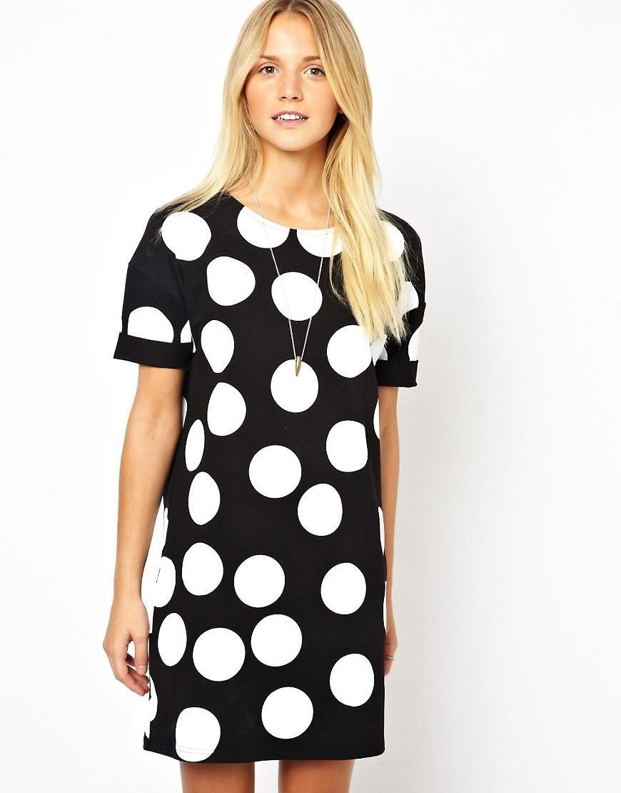 Shift dresses for wedding guests  ASOS  ASOS Shift Dress In Large Spot Print at ASOS  Vestidos