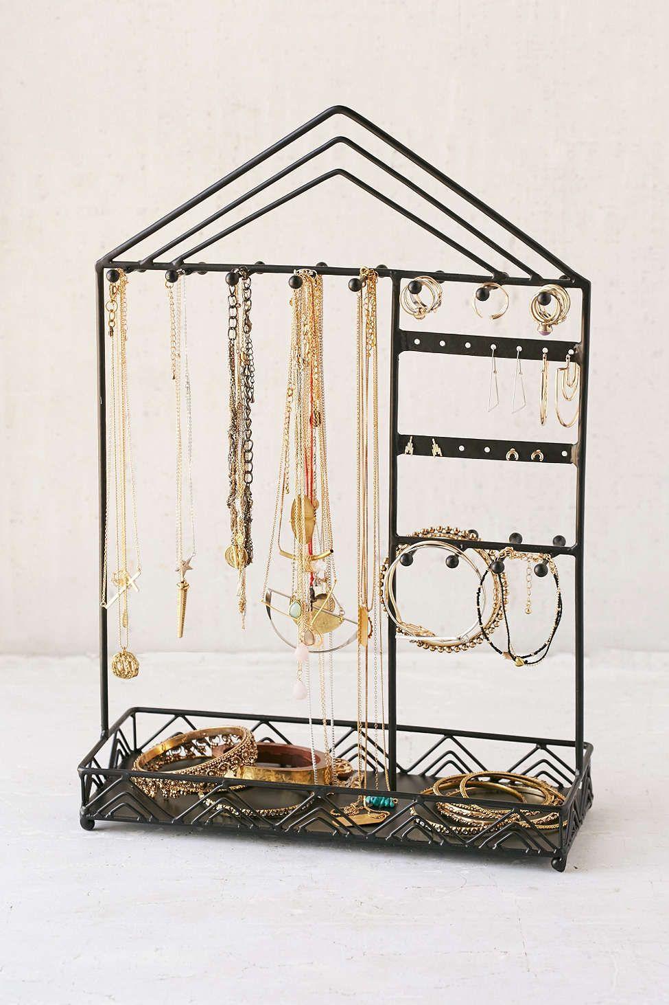 présentoir à bijoux à cadre triangulaire - urban outfitters