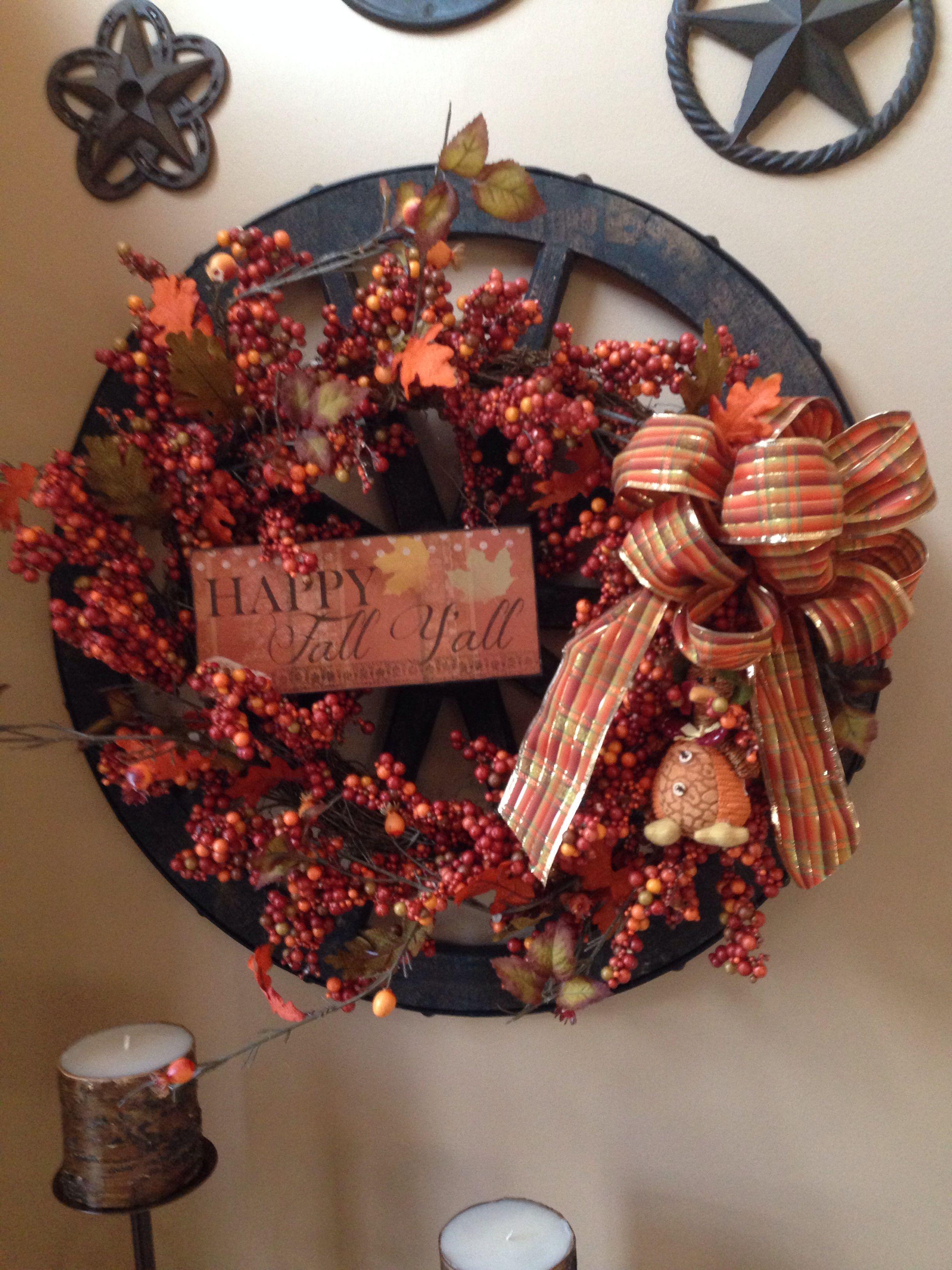 Fall wreath Fall wreath, Christmas wreaths, Wreaths