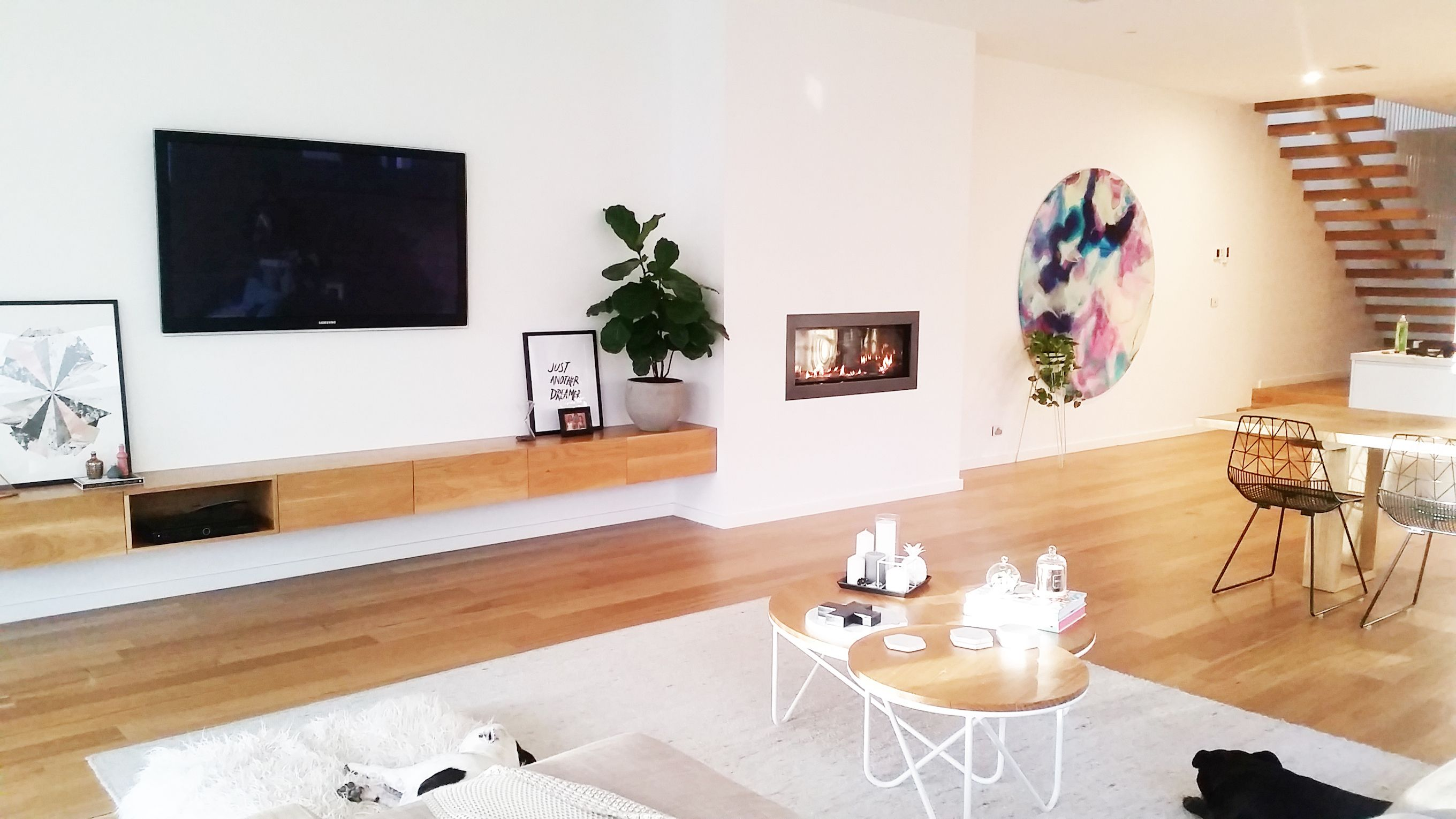 Bec Marks The Spot Floating Timber Built In Unit Tv Wall Pinterest Tv Units Living Rooms