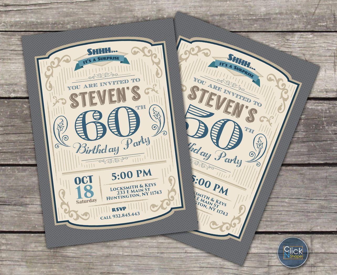 Vintage 80th Birthday Invitations - Ivoiregion