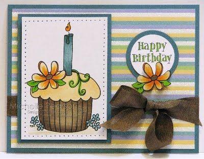Cupcake made with free digital stamp.