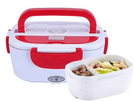 Portable Electric Heating Lunch Box Womdee Electric Lunch Box Food Heater 1 2 Liter Capacity Lunch Box Lunch Box Recipes Electric Heating