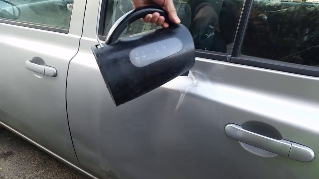 Remove dents with a plunger. Remove dents from car, Diy