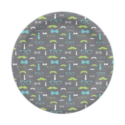 Little Man Paper Plate Teal Lime Gray Paper Plate  sc 1 st  Pinterest & Little Man Paper Plate Teal Lime Gray Paper Plate | Party Paper ...