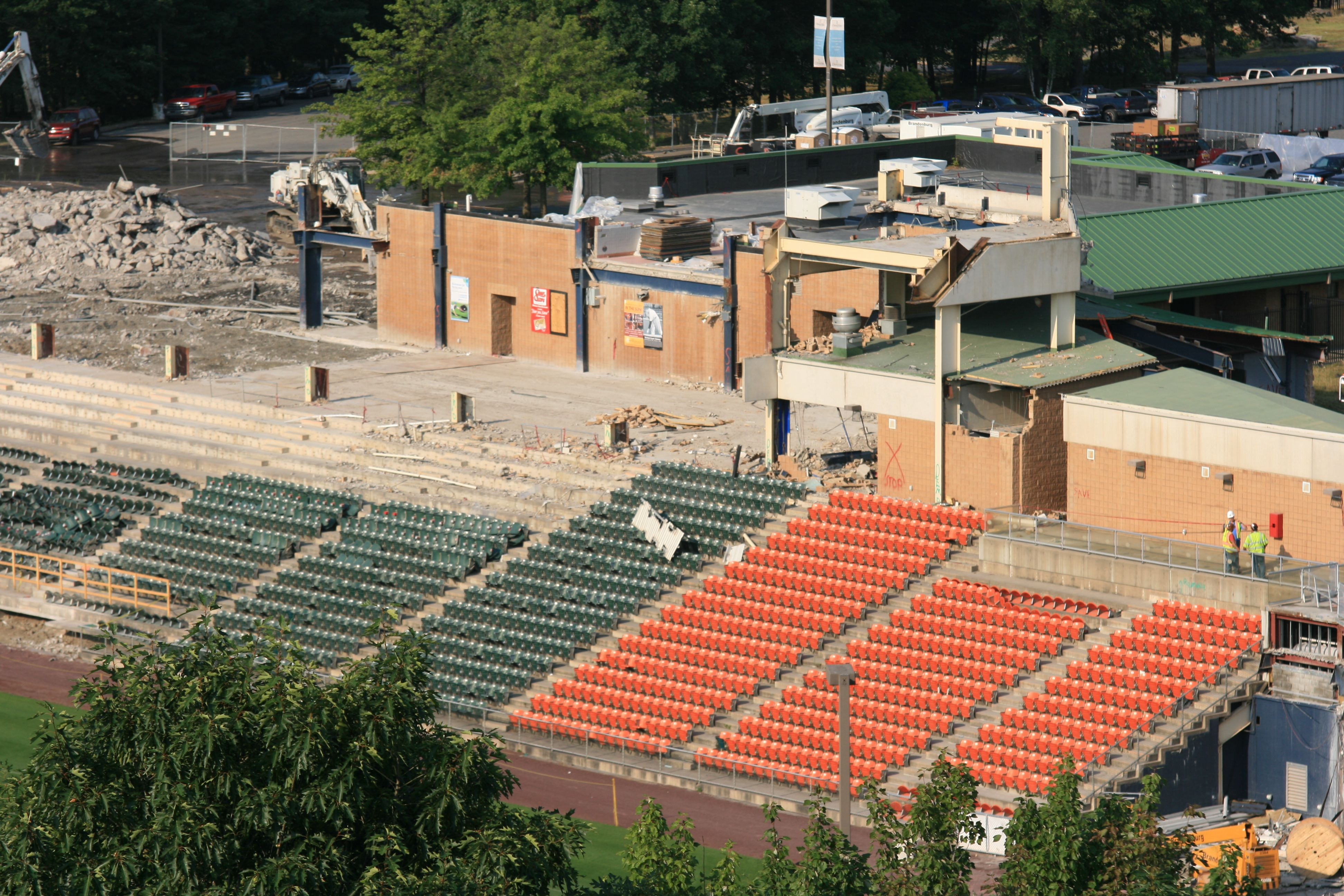 Another view of the third base side of the stadium under