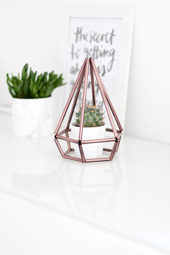 Do It Yourself: Himmeli Diamant als Deko für dein Zuhause #zuhausediy