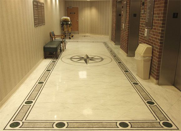 Contemporary marble flooring tile designs for rectangular room ...