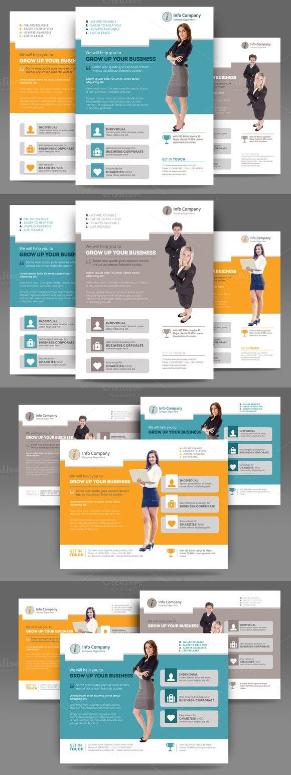 Corporate Flyer or Poster Templates. Human Icons. $4.00