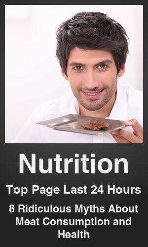 Top Nutrition link on telezkope.com. With a score of 235. --- 8 Ridiculous Myths About Meat Consumption and Health. --- #telezkopenutrition --- Brought to you by telezkope.com - socially ranked goodness