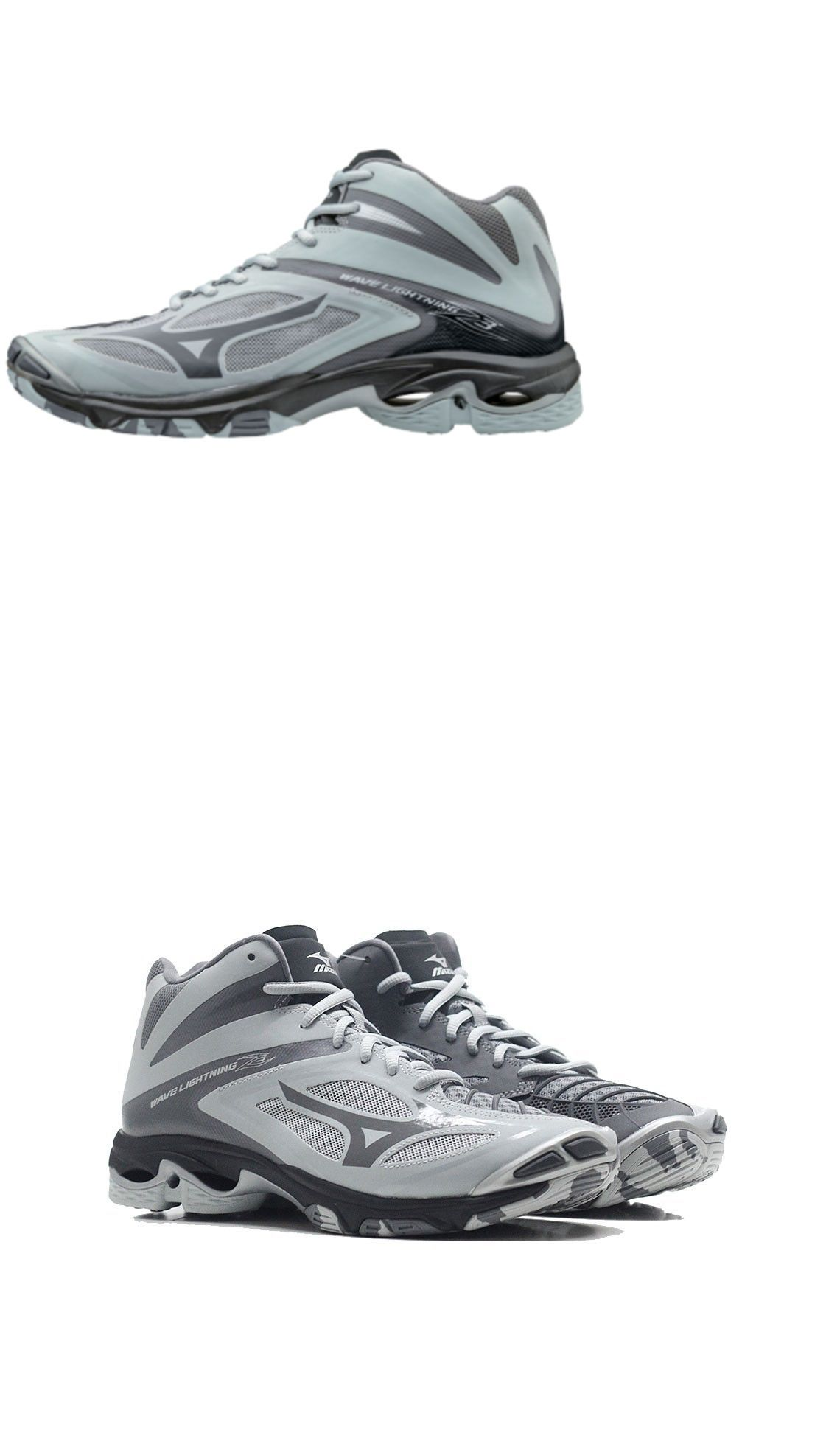 Clothing 159130 New 2017 Mizuno Wave Lightning Z3 Mid Mens Volleyball Shoes Grey Buy It Now Only 1 Volleyball Shoes Mens Volleyball Shoes Mens Volleyball