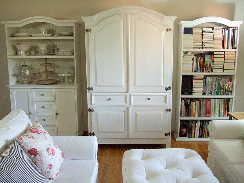 too many china cabinets love the matching armoire hutch. Black Bedroom Furniture Sets. Home Design Ideas