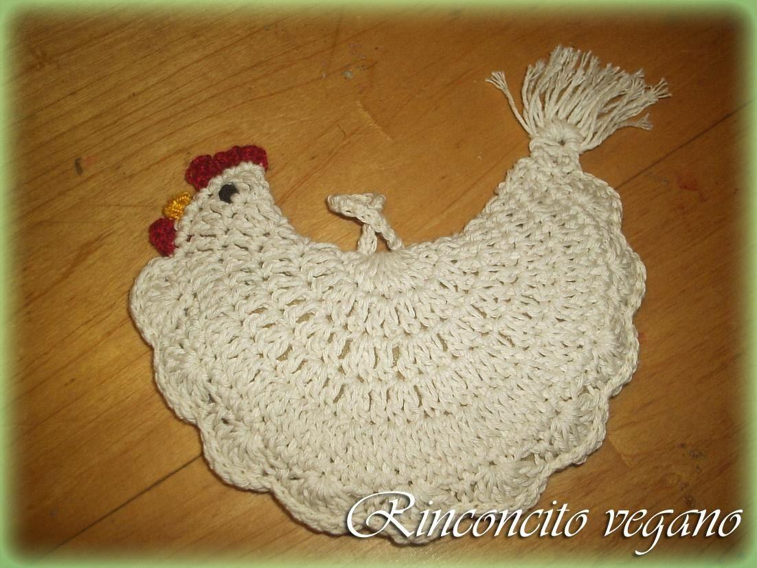 Agarradera Gallina Rellena Crochet Artesanal Vegana | TEJIDO 2 ...