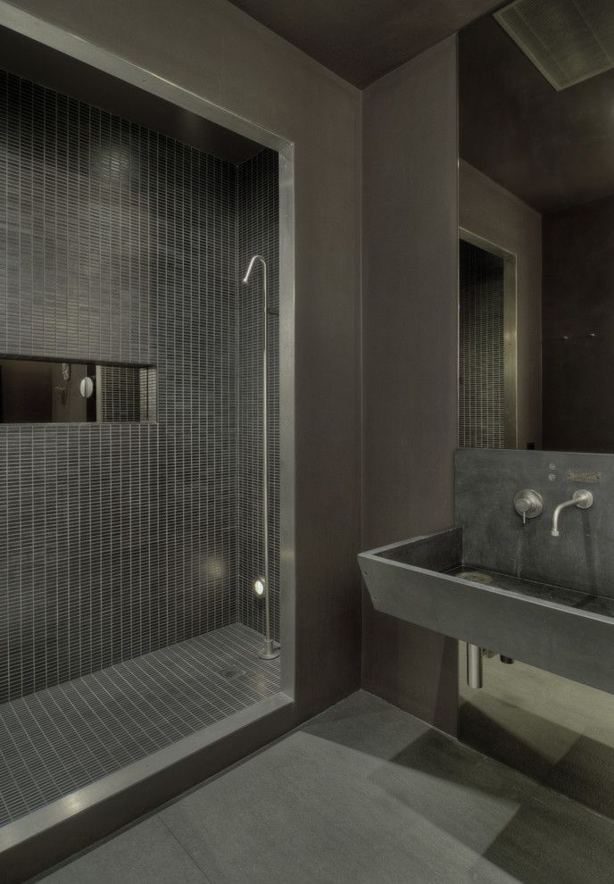97 stylish truly masculine bathroom dcor ideas - Concrete Bathroom Decoration