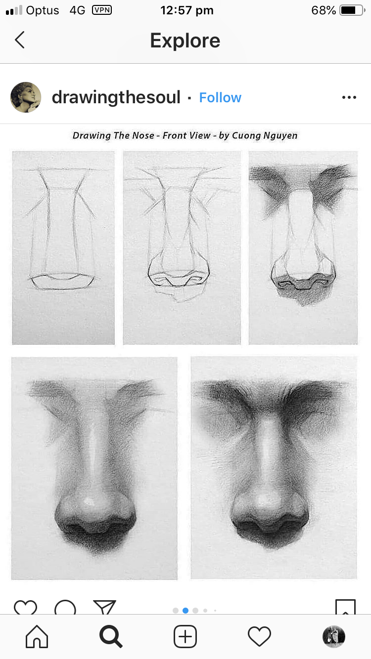 Front Nose Nose Drawing Drawings Realistic Drawings