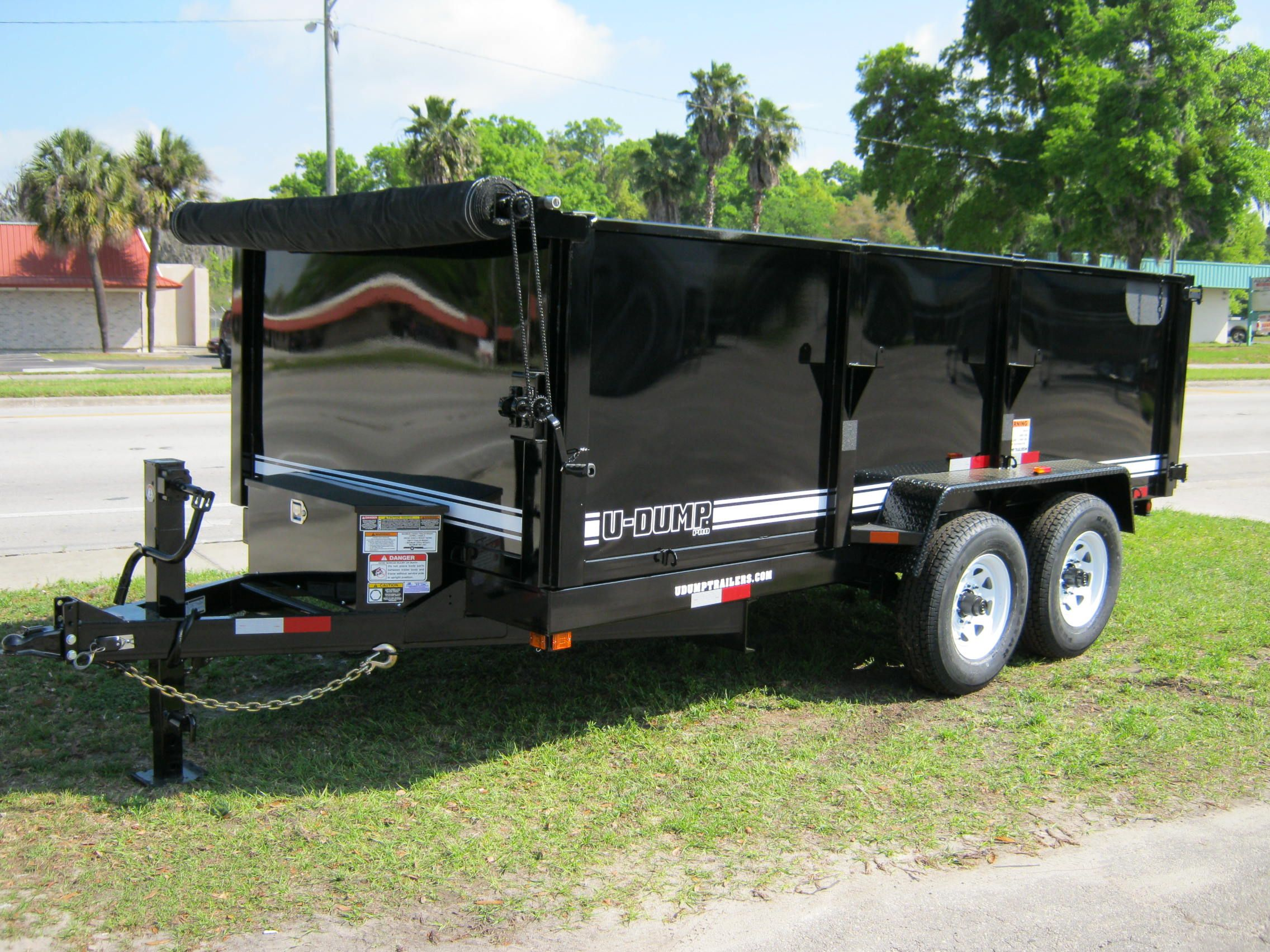Dump Trailer High Sides Equipment Dump Trailers Dump Trailers For Sale Dumped