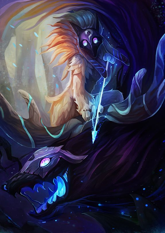 Kindred Anime Girl Wallpaper Kindred Games Art League Of Legends Champions League