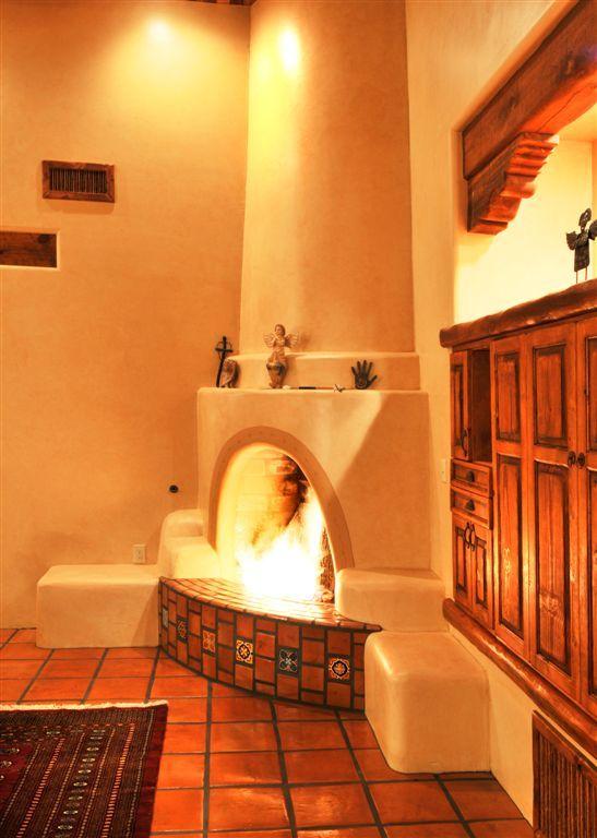 Corner Fireplace For The Home Pinterest Haciendas