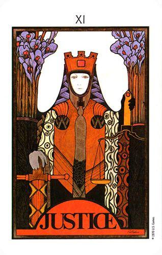 Justice Aquarian Tarot Tarot Cards Art Tarot Decks Card Art