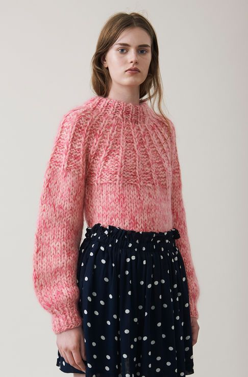 The Julliard Mohair Bow Pullover, Sea Pink, hi-res | Tejidos ...