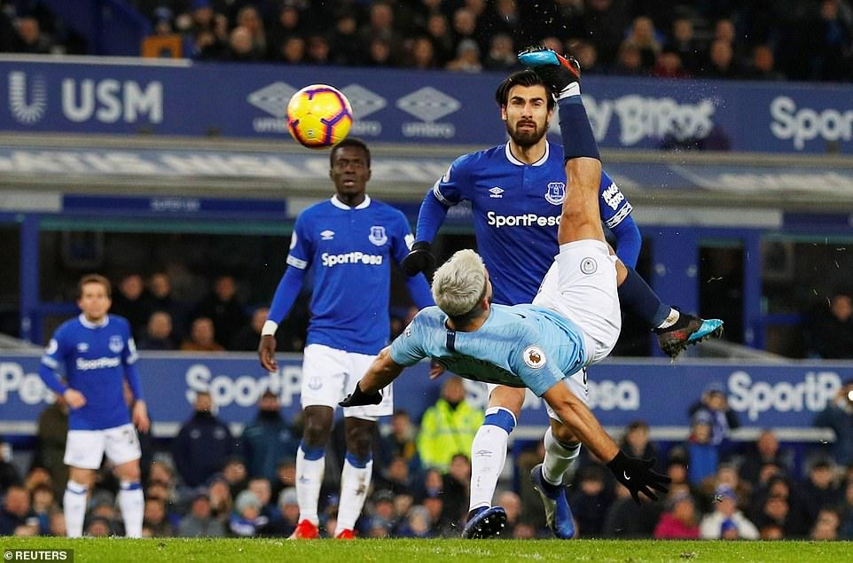 Everton 02 Manchester City Laporte and Jesus send City