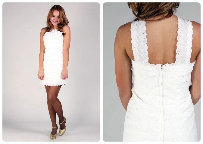 Satin Bateau/ Sabrina Sheath Dress with Bow & Lace.  Ethereal Prom Dress