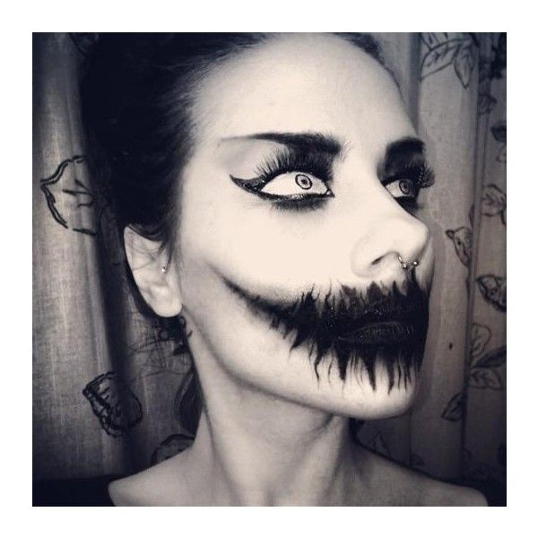 18 Horror Makeup Ideas ❤ liked on Polyvore featuring beauty - halloween horror makeup ideas