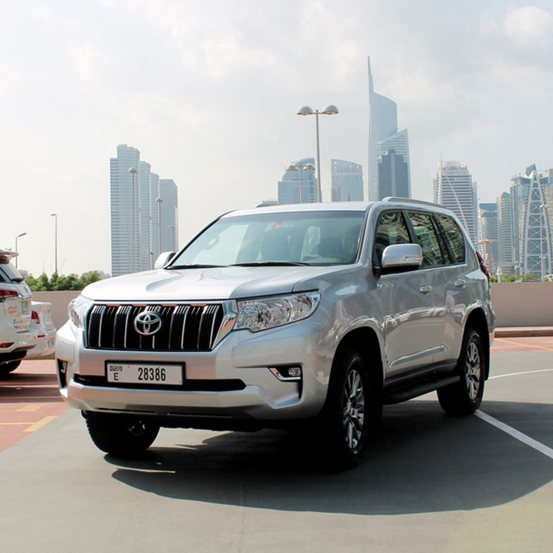 Drive 😎 the Toyota Prado 🚙 in Dubai for only AED 450/day