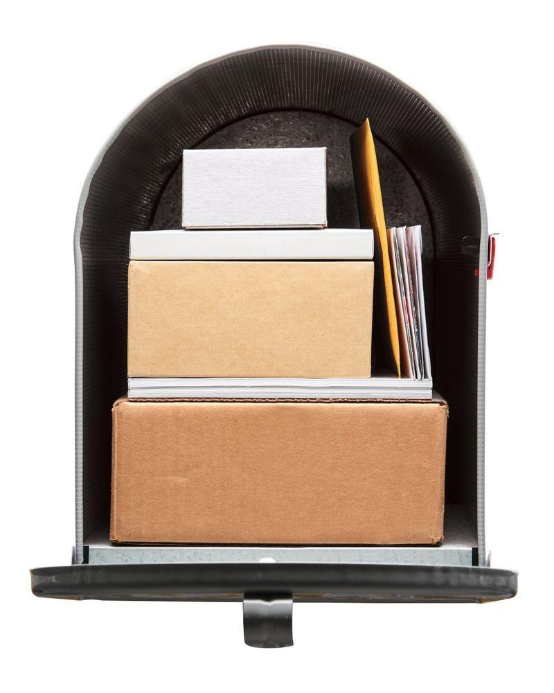 Post Mount Mailbox Premium Stanley Extra Large Capacity Galvanized ...