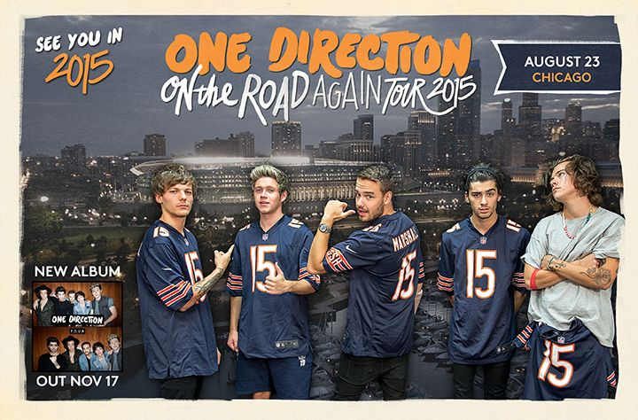 One Direction Announce On The Road Again World Tour Dates Chicago S B96 96 3 Fm 1d Chicago Dance One Direction Niall One Direction Edits One Direction