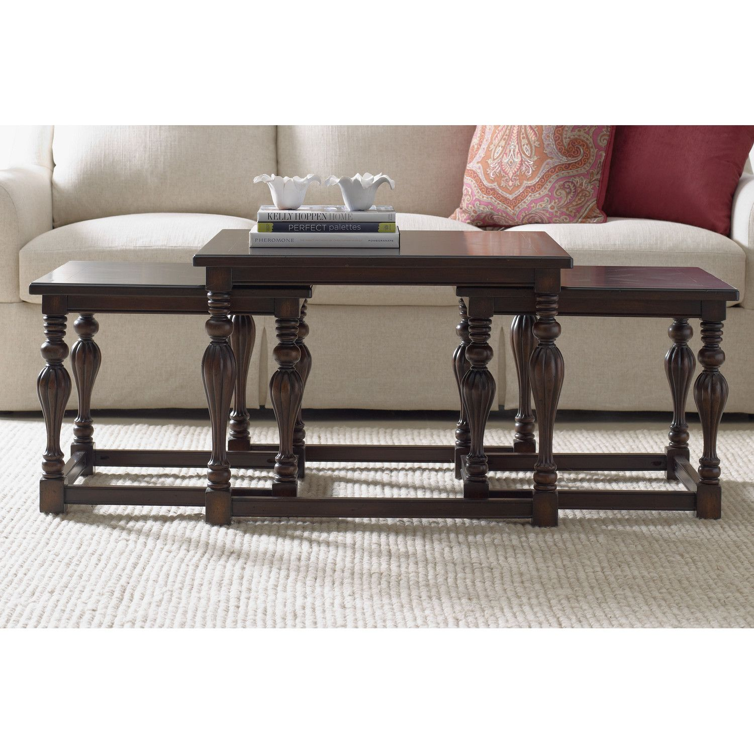 hooker furniture nesting coffee table