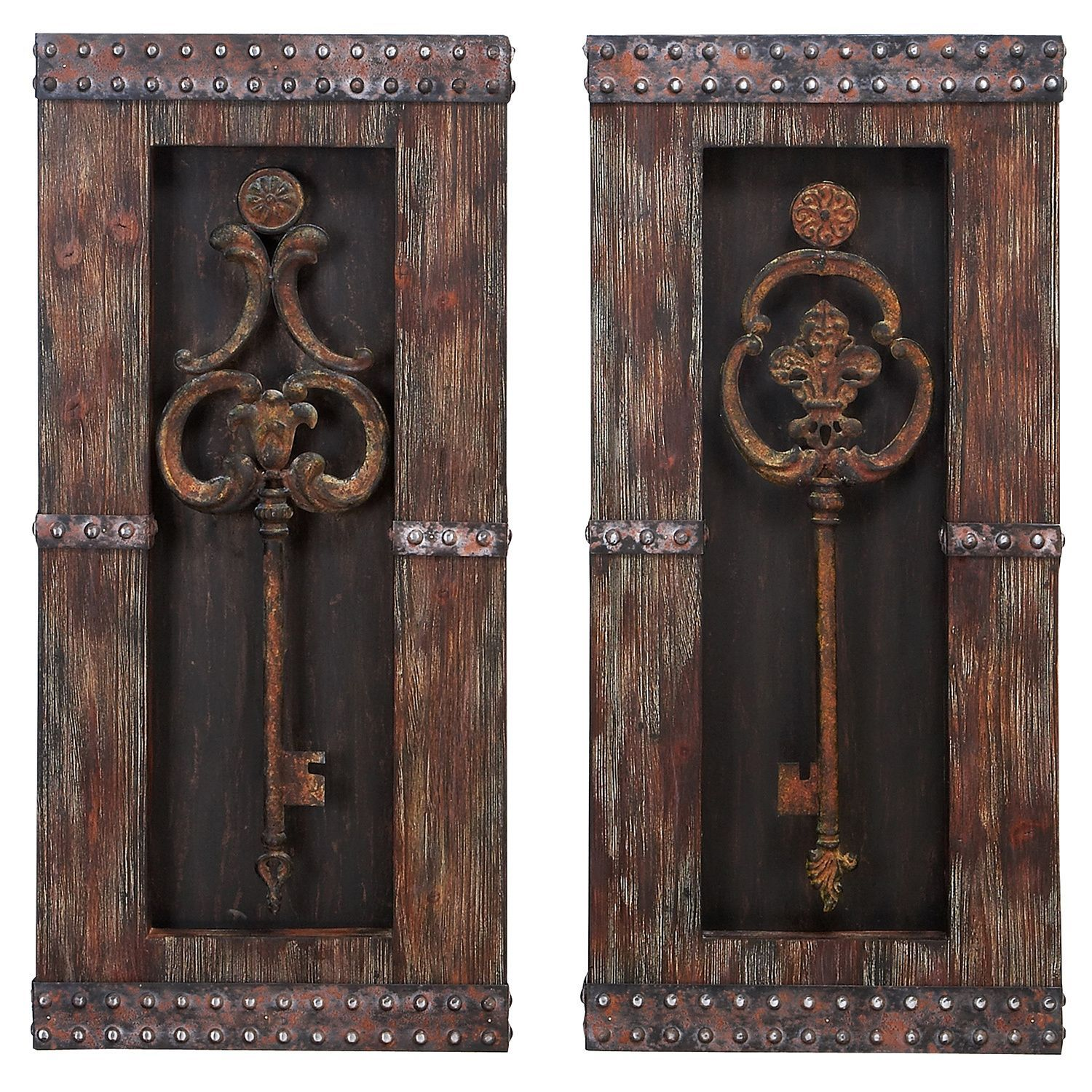 Casa cortes vintage keys piece wall art decor set home