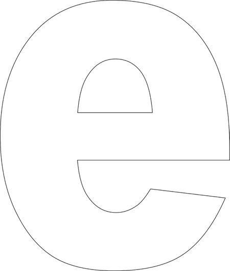 Free Printable E Template Alphabet Templates Letter A Crafts Free Printable Alphabet Templates