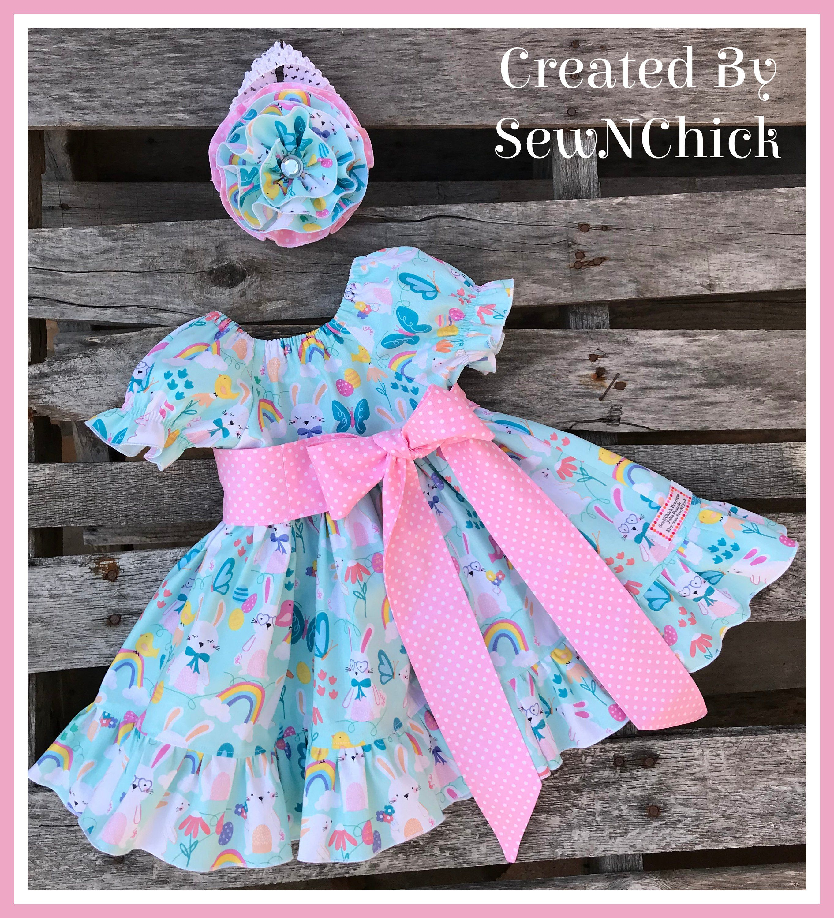612 mth easter dress with free matching easter basket and