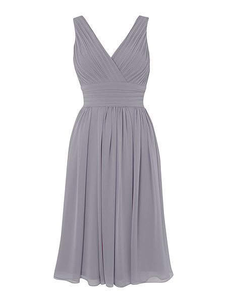 b4f031cd47 Sleeveless pleated waist dress
