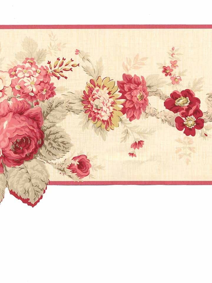 Pin On Victorian Rose Wallpaper Border