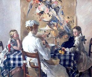Jane, Evelyn, James and Helen 1913 - Philip Connard - (British : 1875 - 1958)