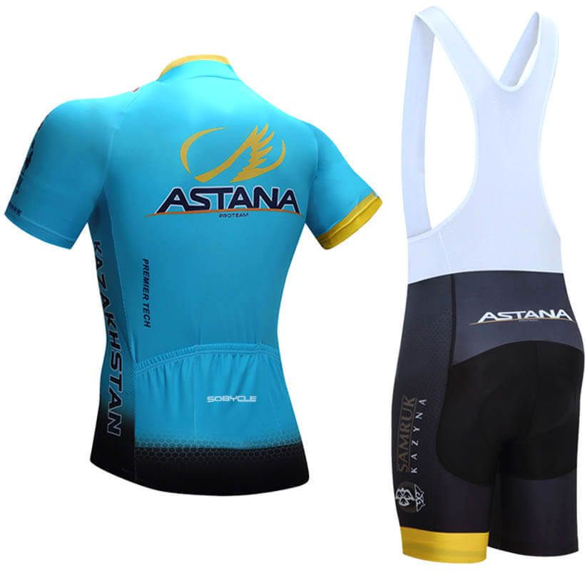 2017 Team Astana Cycling Jersey Blue Freestylecycling Com