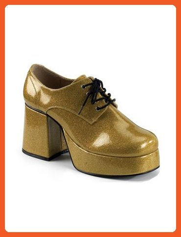 6908ed42a9a2 Mens Gold Glitter Disco Platform Shoes - S - Boots for women ( Amazon  Partner-Link)