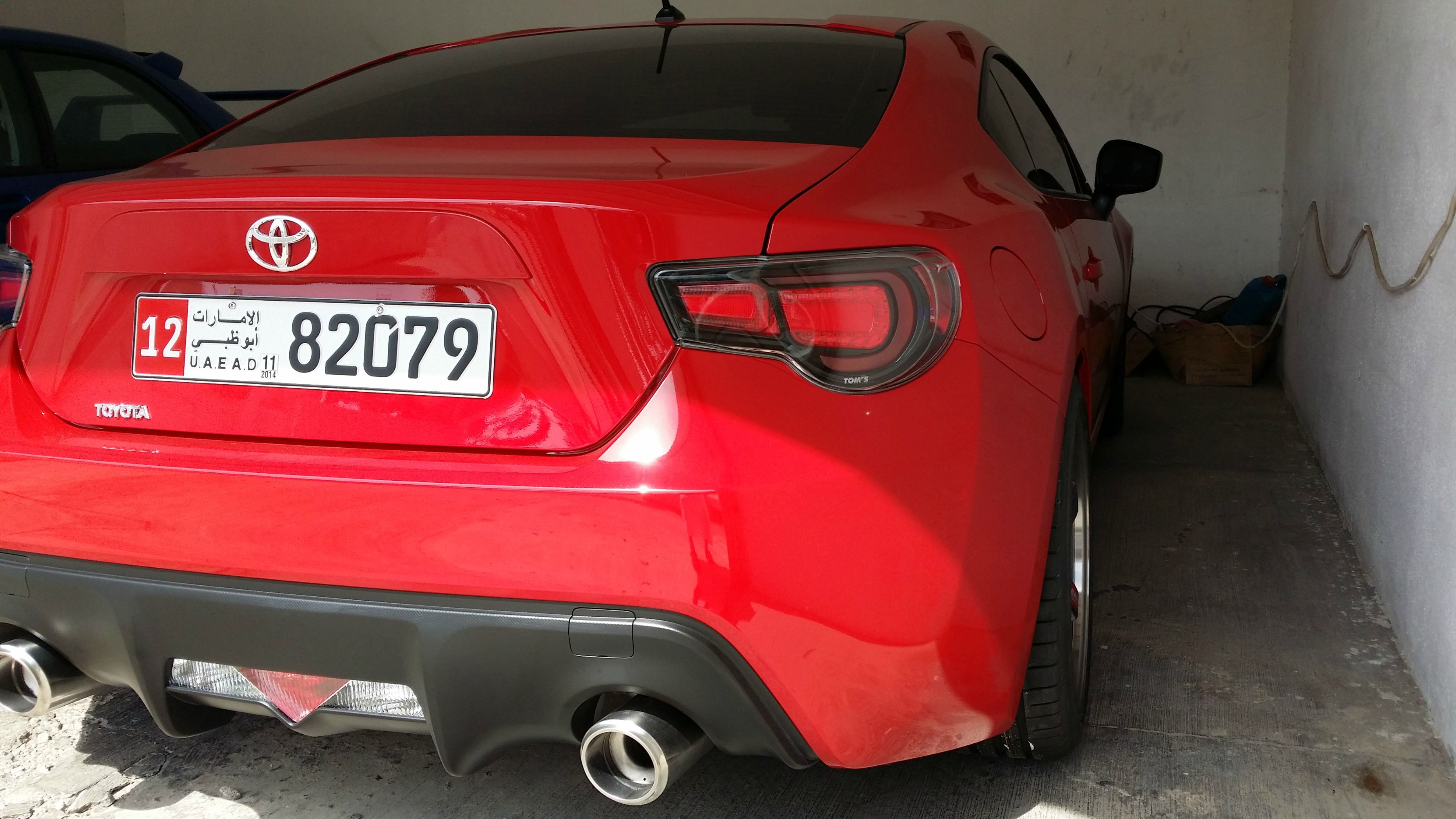 Evo  Tail Lights Paint Red